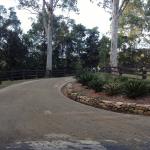 Road base driveway entrance