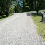 Rural road base driveway