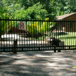 Automatic security gates made to order and installed .